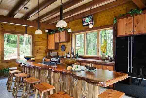 Natural Wood Countertops Live Edge Wood Slabs Rustic Kitchen Wood Countertops Rustic