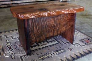 Rustic office desk for an executive