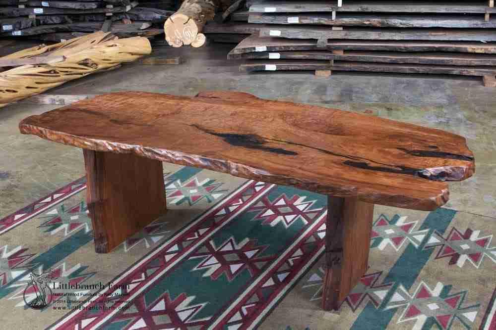 live edge wood slab rustic dining table