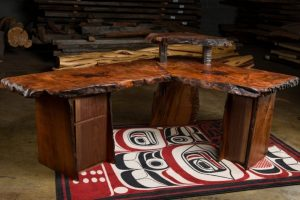 Executive Corner Desk in Redwood Burl | Littlebranch Farm