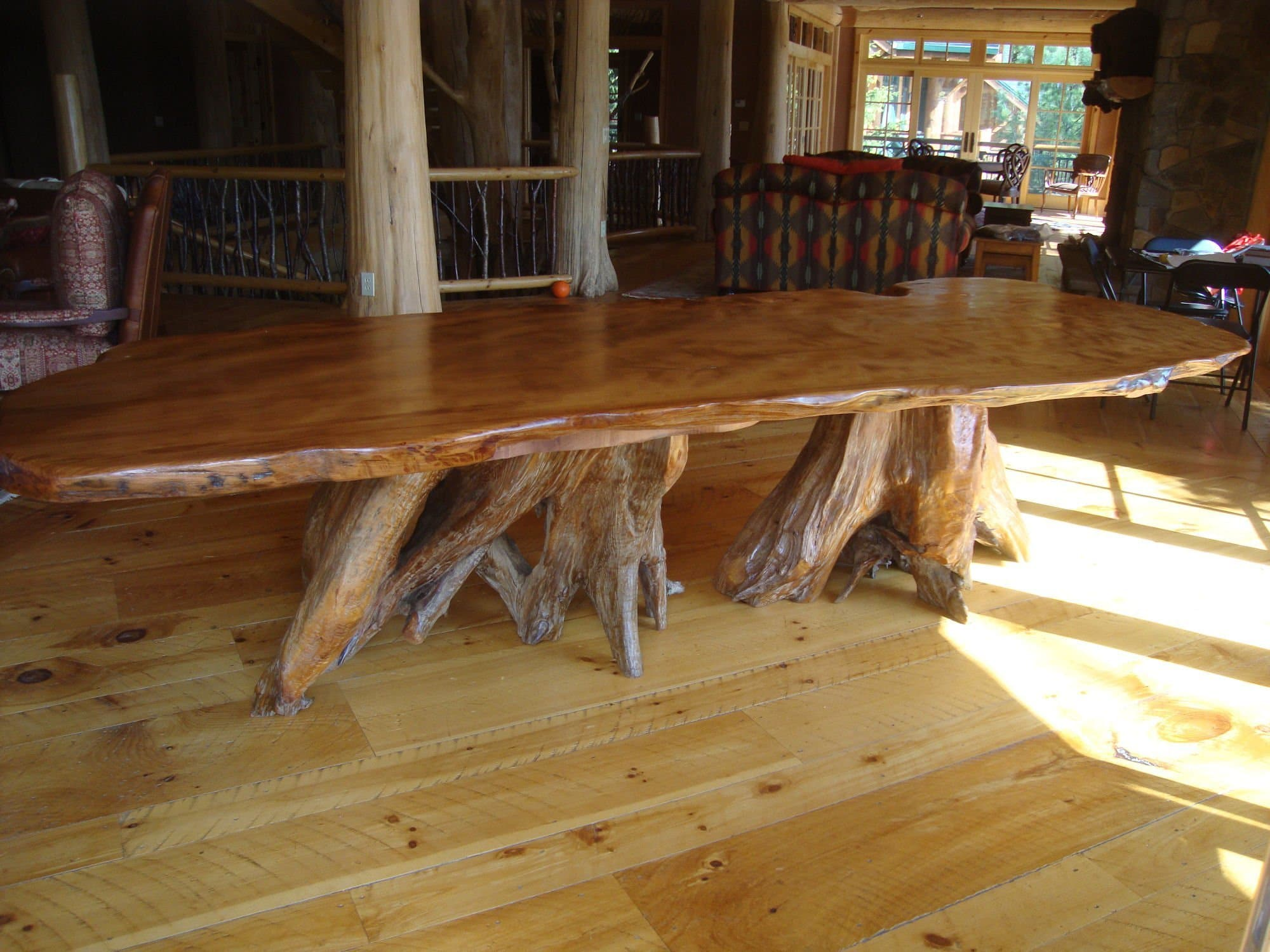 Rustic Table Dining Tables Live Edge Wood Slabs