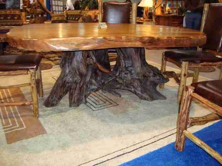 Rustic Dining Table Live Edge Wood Slabs Littlebranch Farm