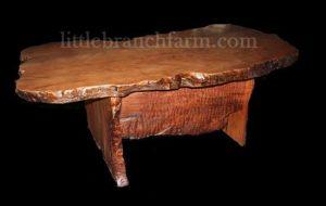 natural wood rustic desk