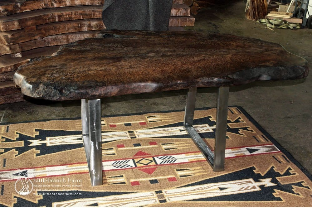 Rustic modern dining table