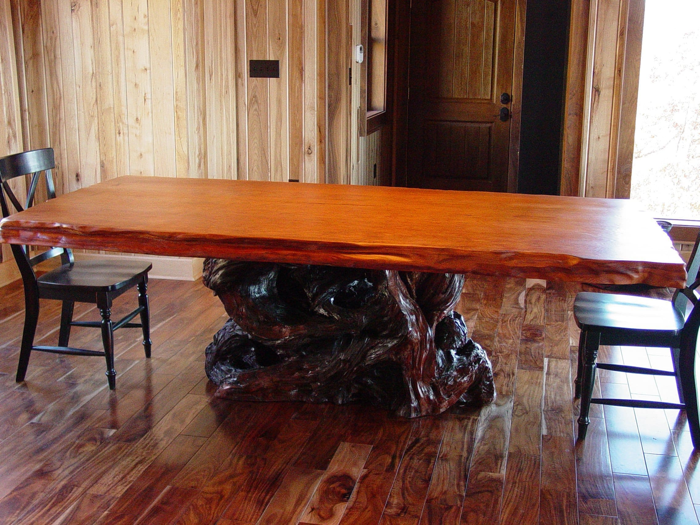 Live Edge Wood Slab Table Rustic