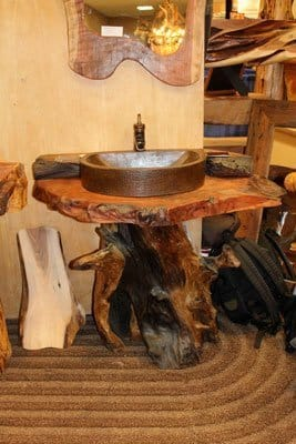 Rustic Log Burl Vanity | Littlebranch Farm