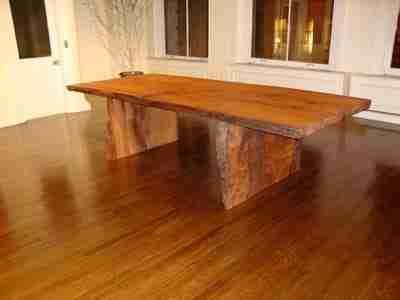 redwood slab rustic dining tables