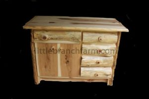 Rustic Log Vanity | Littlebranch Farm