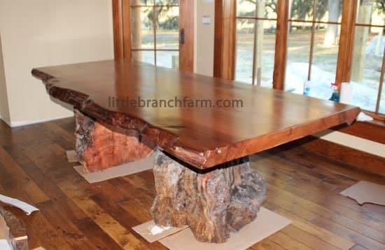 Rustic Table Live Edge Wood Littlebranch