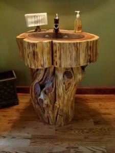 Stump Pedestal vanity   Littlebranch Farm