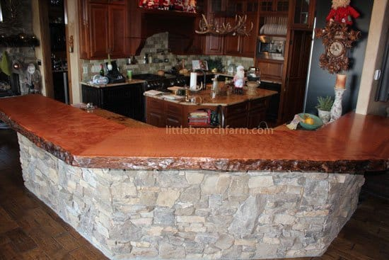 natural wood countertops