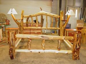 cedar log bed