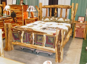 Custom Cedar log bed