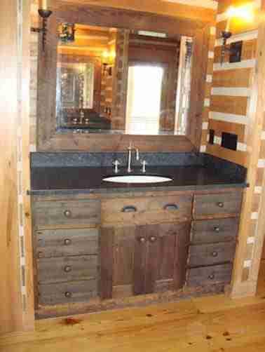 Rustic Vanities Rustic Bathroom Vanity Log Vanity