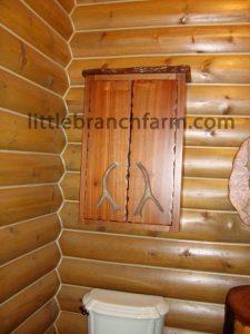burl wood cabinet