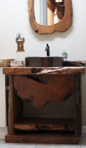 Burl Wood Slab Bathroom Vanity | Littlebranch Farm