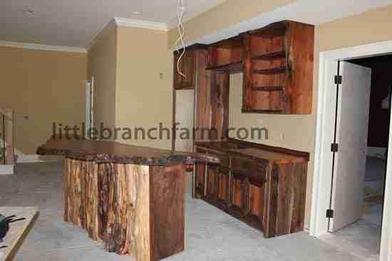 Custom Wet Bars - live edge wood slabs | Littlebranchfarm