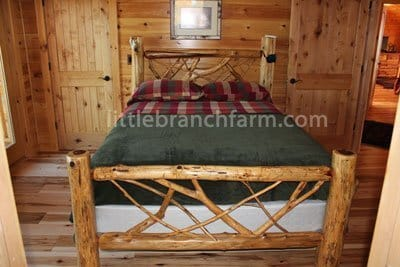 rustic bed