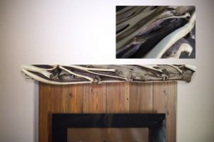 Rustic Juniper Fireplace Mantel | Littlebranch Farm