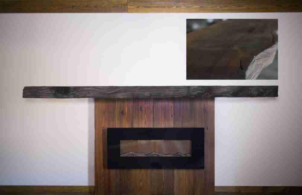 Rustic Redwood Burl Fireplace Mantel   Littlebranch Farm
