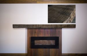Live Edge Burl Wood Fireplace Mantel | Littlebranch Farm