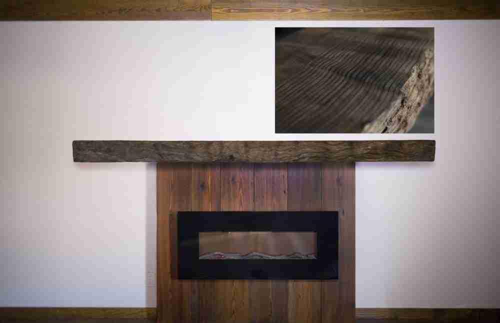 Live Edge Burl Wood Fireplace Mantel   Littlebranch Farm