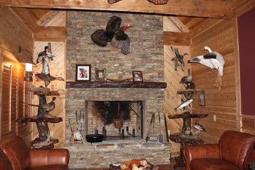 Rustic Fireplace Mantels | Fireplace mantel | Littlebranch Farm