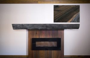 Live Edge Burl Wood Fireplace Mantel |Littlebranch Farm
