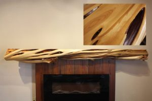 Over sized knotty twisted juniper mantel