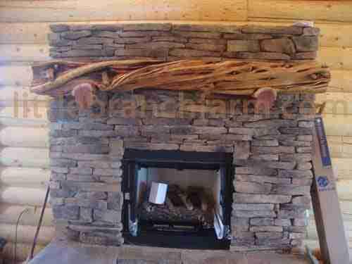 Pin Fireplace Mantel Rustic Log Mikuna On Pinterest