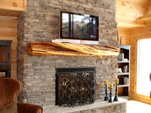 All of our rustic fireplace mantels are one of a kind. We offer reclaimed wood beams