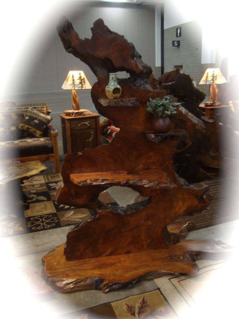 live edge redwood art