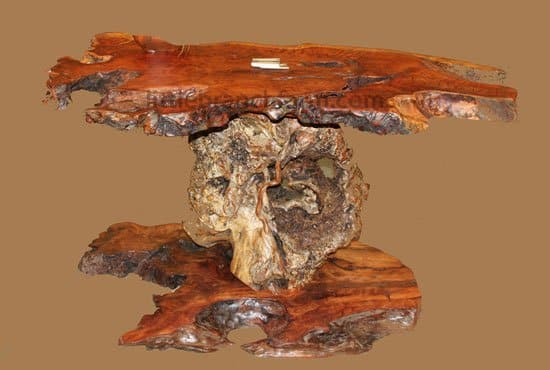 rustic tables. Burl furniture