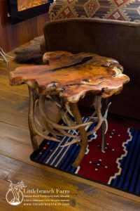 End table mesquite mule deer elk large | Littlebranch Farm