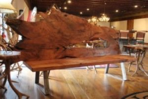 Redwood Bench with Metal Base