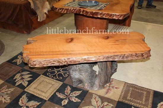 live edge rustic table