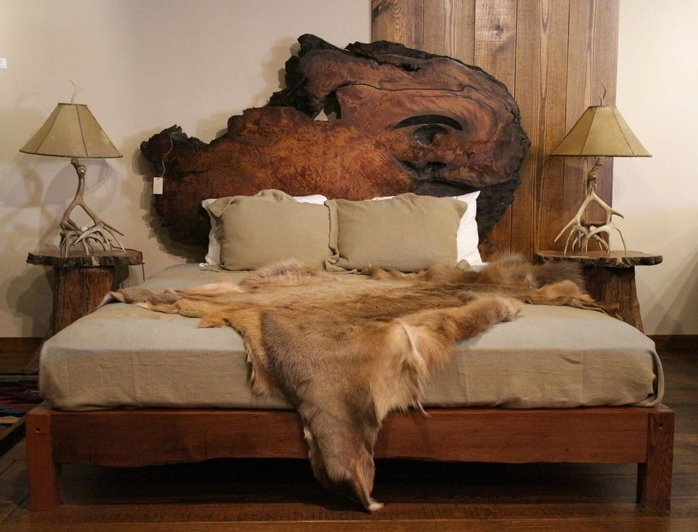 Rustic Bed Lace Burl Redwood | Littlebranch Farm