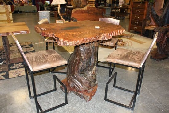 Genial Rustic Tables Crafted From Recovered Old Growth Redwood, ...