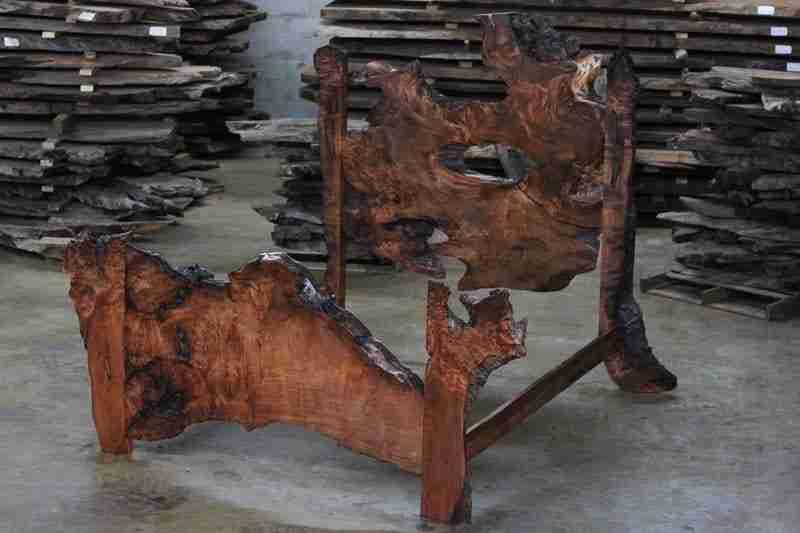 Rewood Burl Slab Bed | Littlebranch Farm