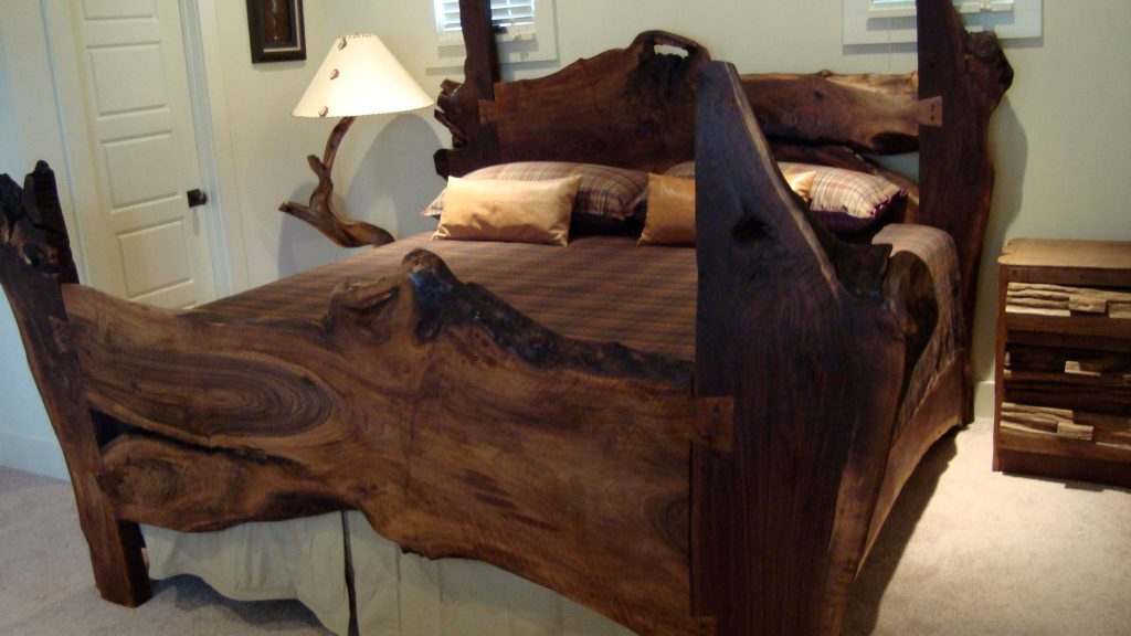 live edge slab bed