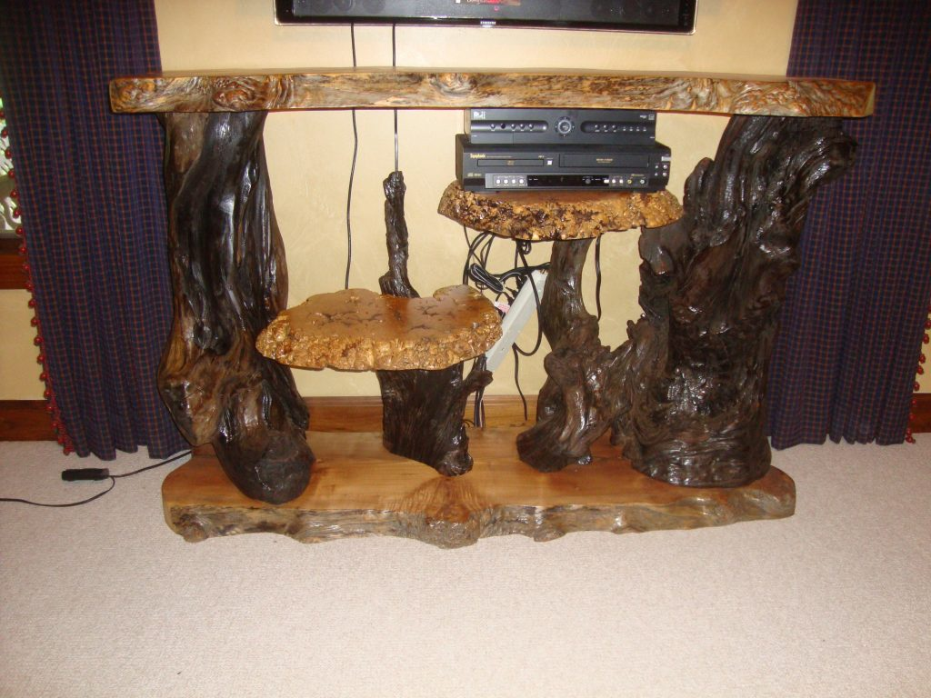 natural burl furniture