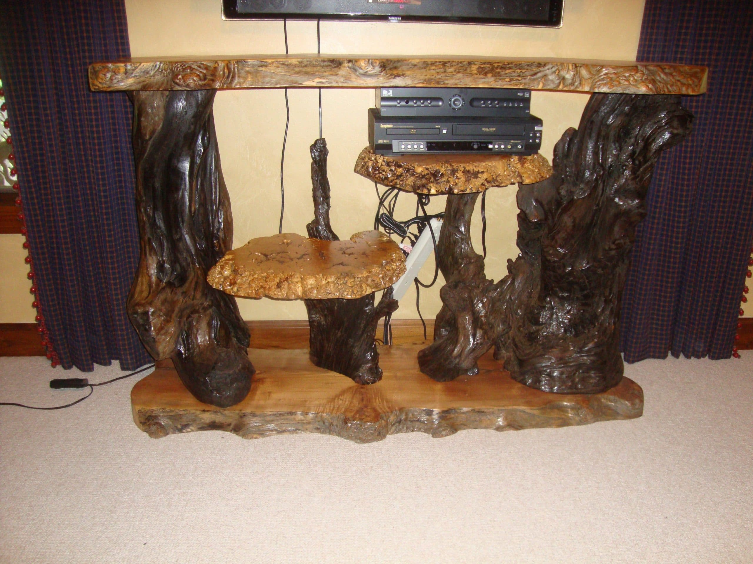 Burl furniture Live edge burl wood