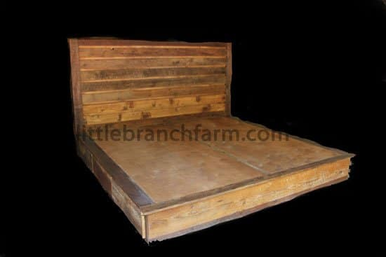 reclaimed wood platform bed rustic beds 30159