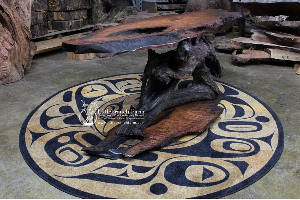 burl wood furniture
