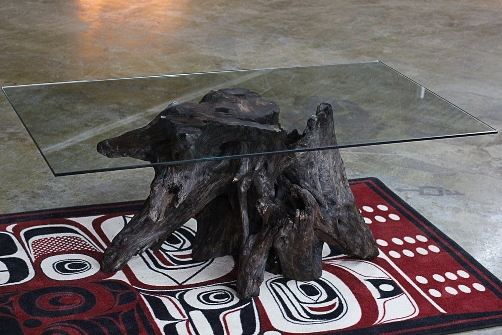 Driftwood root table