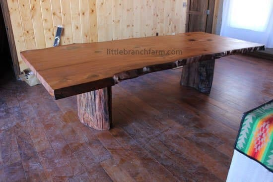 Rustic Table Live Edge Table Wood Slabs Littlebranch