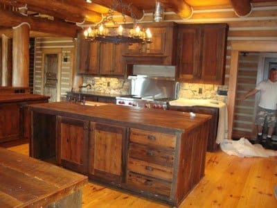 Barn Board Kitchen Islands