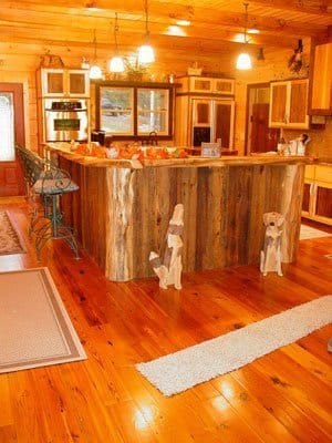 Nyela reclaimed wood shed for Cedar kitchen cabinets