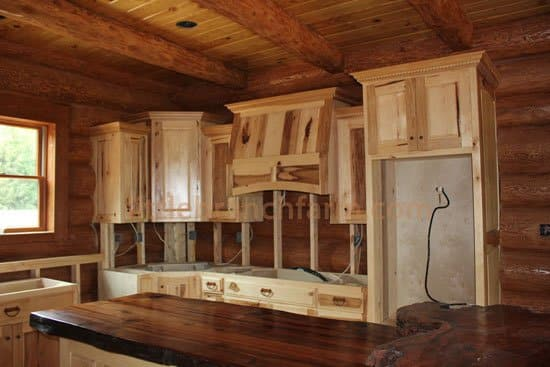 contemporary rustic cabinets