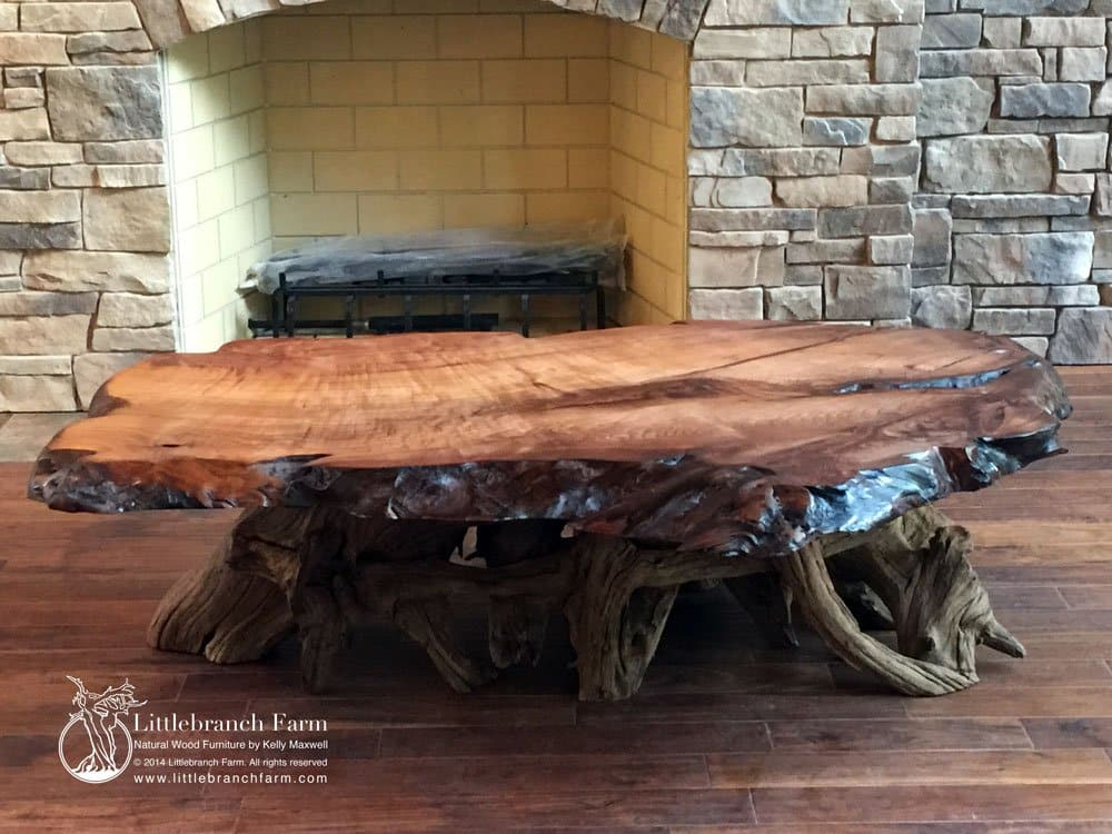 Burl wood furniture - Natural Wood Coffee Tables - Rustic Coffee Table, Wood Slab